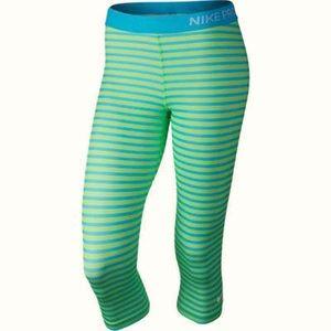 Nike Pro Classic Dri Fit Crop Leggings Striped